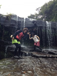 のんびり滝遊び!