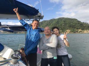 ヨット部後輩が西表島へ!