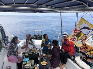 船上での宴会